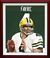Giclee print on Canvas of Brett Favre
