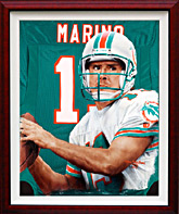 Giclee print on Canvas of Dan Marino