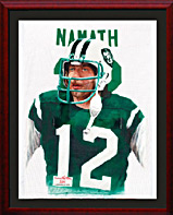 Giclee print on Canvas ofJoe Namath