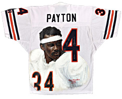 Hand-Painted Walter Payton Football Jersey