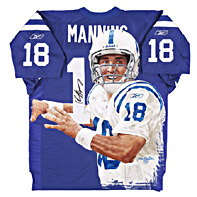 Hand-Painted Peyton Manning Football Jersey