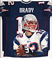 Hand-Painted Tom Brady Football Jersey