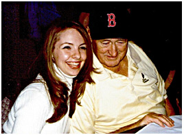 Karen O'Neil Ganci and Ted Williams