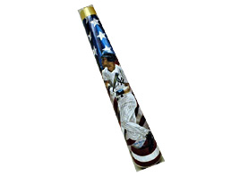 Hand-Painted Derek Jeter Baseball Bat