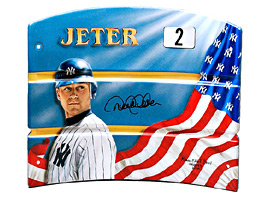 Hand-Painted Derek Jeter Seat Back